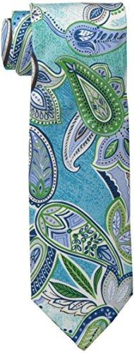 (Tommy Bahama Men's Maxi Tropical Paisley Necktie, Aqua, One Size )