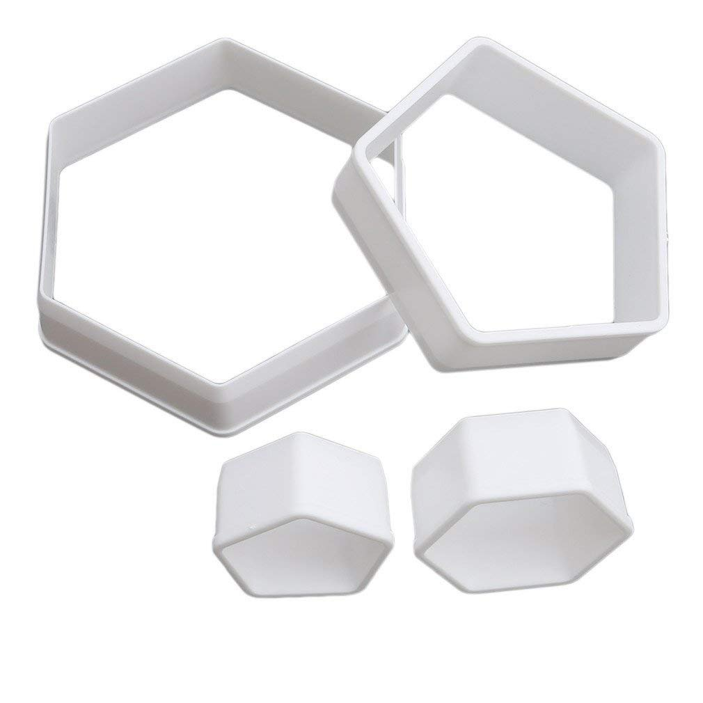 Gluckliy 4pcs Plastic Football Shape Cookie Cutter Stamp Sugarcraft Baking Mould Fondant Cake Decorating Tools fangqiang