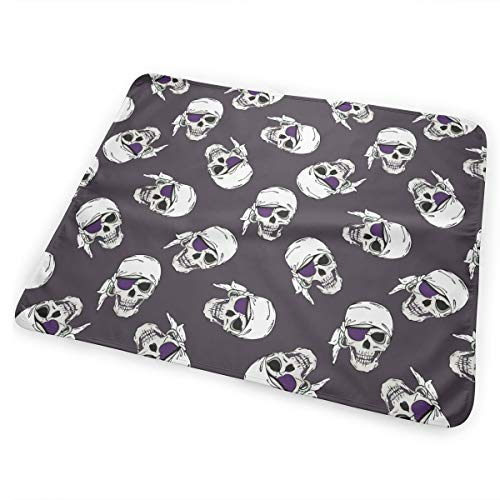 (Pirates Skulls Underpads, Incontinence Bed Pads, Play Sheet Bed Chair Table Mat Protector, Puppy Pads Dog Pee Pad - Large Highly Absorbent Mattress Protector)