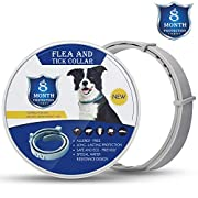 #LightningDeal 58% claimed: Flea and Tick Collar for Large and Small Dogs Hypoallergenic and Waterproof Tick Prevention and Flea Control Dog Collar for 8 Months of Protection