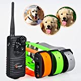 Aetertek At-216s Rechargeable Dog Trainer Submersible Dog Shock Collar 550m Remote Dog Pet Electric Shock Control 3 Dog Training Anti Bark Shock Collar 100% Waterproof Dog Bark Collar For Sale