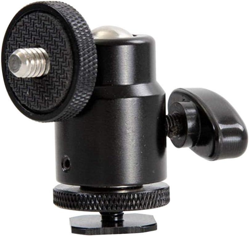 Kamera Camcorder Kugelkopf greatdaily Stativ Clamp Blitzschuh Aluminium Mini Kugelkopf 1//4 Zoll Lampe Stativ Kugelkopf 360 /° Mini Stativkopf Kugelkopf