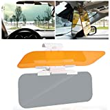 Car Sun Protection Visor - 2-in-1 Sun Visor for Car - Day or Night Sun Visor Car Visor Extender Sun Blocker for Car Windshield Reduce Glare from The Sun and Oncoming Headlights with Manual
