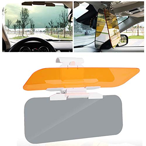 Car Sun Protection Visor - 2-in-1 Sun Visor for Car, Day or Night Sun Visor Car Visor Extender Sun Blocker for Car Windshield Reduce Glare from The Sun and Oncoming Headlights with Manual
