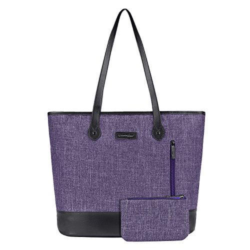 - UtoteBag Women 15.6 Inch Laptop Tote Bag Notebook Shoulder Bag Lightweight Multi-Pocket Nylon Business Work Office Briefcase for Computer/MacBook / Ultrabook,Purple