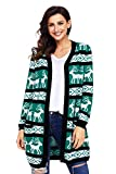 Product review for Shawhuwa Womens Christmas Sweater Reindeer Open Front Knit Cardigan