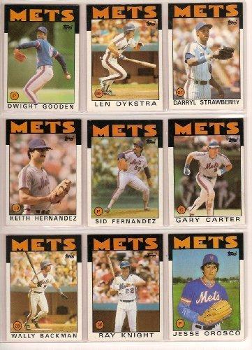 1986 Topps New York Mets Team Komplett Set (39 Karten) von Topps