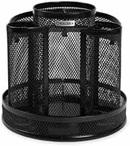 Rolodex Mesh Collection Spinning Desk Sorter, Black (1773083)