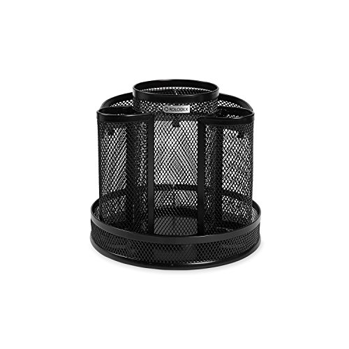 (Rolodex Mesh Collection Spinning Desk Sorter, Black (1773083))