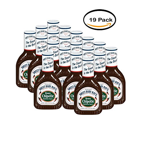 PACK OF 19 - Sweet Baby Ray's Honey Chipotle Barbecue Sauce