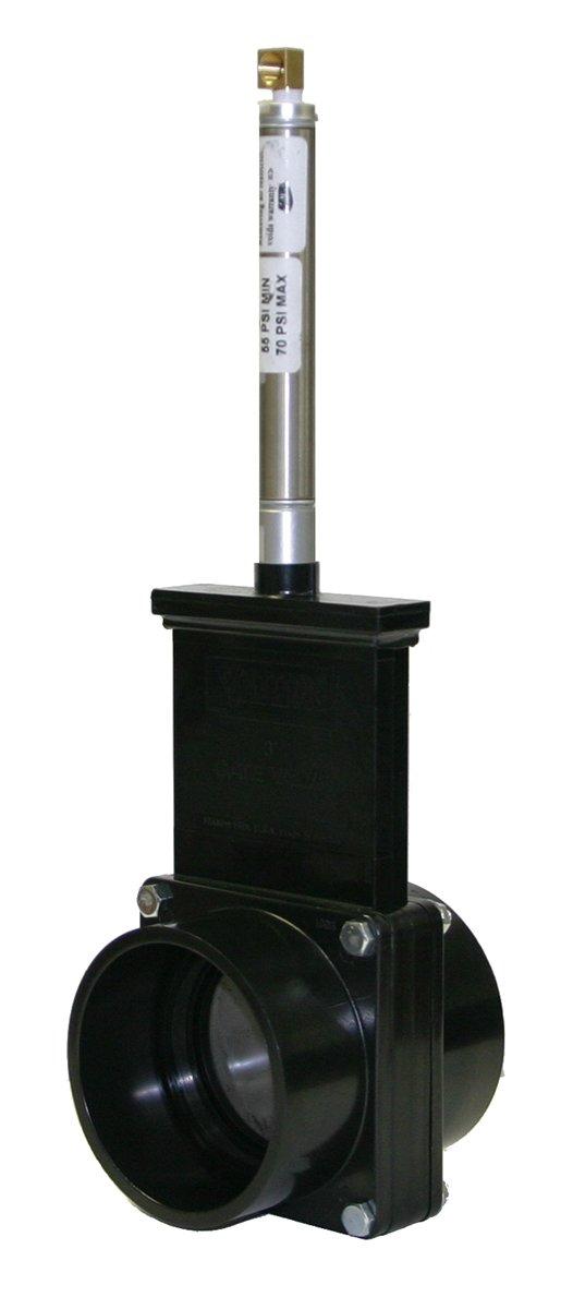 3 Slip Valterra 9301S ABS Gate Valve Metal Air Cylinder Gray
