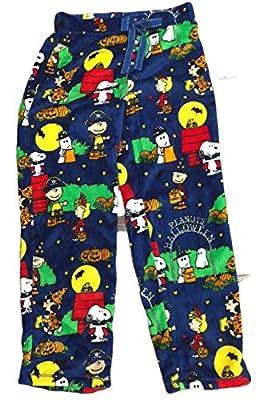 Peanuts Halloween Snoopy Charlie Brown Women's Pajama Minky Fleece Sleep Pants