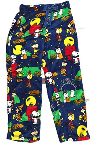 (Peanuts Halloween Snoopy Charlie Brown Women's Pajama Minky Fleece Sleep Pants (3X (22W-24W0))