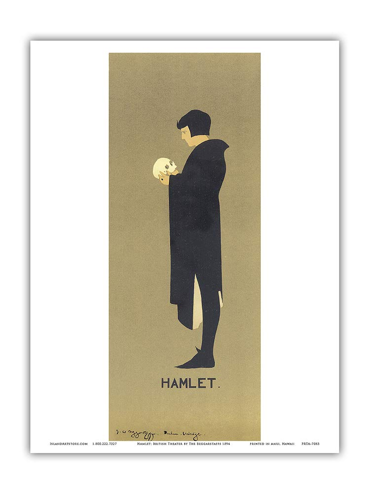 13in x 19in Hamlet Shakespeare Play Master Art Print Vintage Theater Poster by The Beggarstaffs 1894 Pacifica Island Art