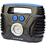 P.I. Auto Store - Tyre Inflator - Dual Electric Power 12V DC (vehicle) 110V AC (mains). Portable Air Compressor Pump - with storage bag