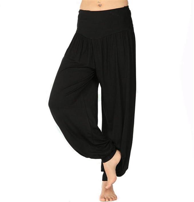 BeautyWill Harem Pantalones para Mujer, Pantalones de Yoga ...