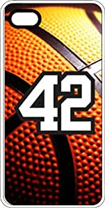 Basketball Sports Fan Player Number 40 White Rubber Decorative iPhone 5/5s Case