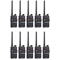 BaoFeng BF-F8+ 2nd Gen UV-5R Dual-Band 136-174/400-520 MHz FM Ham Two-Way Radio Transceiver (Pack of 5)