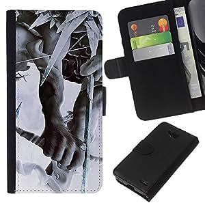 All Phone Most Case / Oferta Especial Cáscara Funda de cuero Monedero Cubierta de proteccion Caso / Wallet Case for LG OPTIMUS L90 // linkin park the hunting party