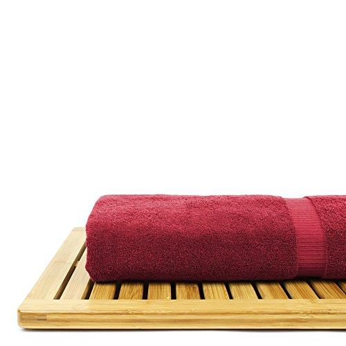 BC BARE COTTON Bare Cotton Luxury Hotel & Spa Towel Turkish Bath Sheets Dobby Border (Cranberry, Bath Sheets - Set of 2) by BC BARE COTTON (Image #5)