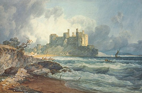 The Museum Outlet - Conway Castle, North Wales, Stretched Canvas Gallery Wrapped. - Outlet Conway North