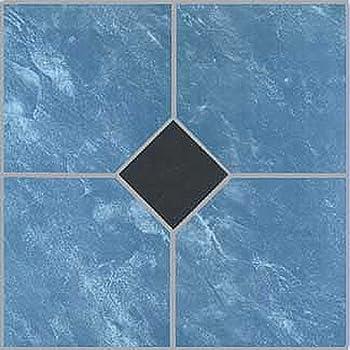 12 Quot X 12 Quot Vinyl Tile In Blue Marble Black Diamond