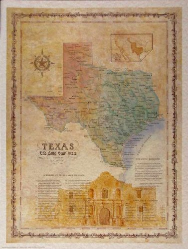 Texas Limited Edition Map (Limited Edition Art Union)