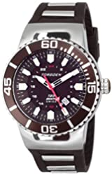 Torgoen Swiss Men's T23302 T23 Brown 20 ATM GMT Dive Watch