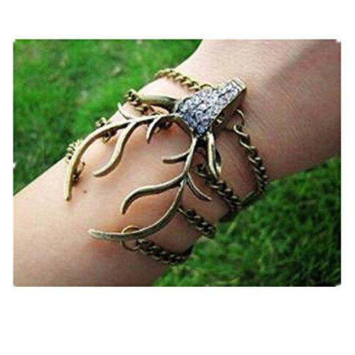 vintage-style-antique-bronze-deer-antler-pendant-women-jewelry-bangle-chain-cuff-bracelet-sl2270