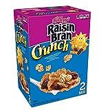 crunchy corn bran - Kellogg's Raisin Bran Crunch, Breakfast Cereal, Original, Good Source of Fiber, 43.3 oz Box