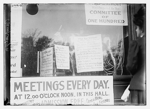 Photo: Signs,Tammany,Meetings Everyday,Committe of One Hundred,Bain News Service by Infinite Photographs