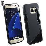 Emartbuy® Samsung Galaxy S7 Ultra Slim Gel Skin Case Cover Black