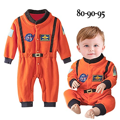 Space Dress Suit Costume Fancy (Baby Boy's Astronaut Toddler Space Suit Career Nasa Fancy Dress Child Costume Rompers)