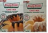 Krispy Kreme Doughnuts Cake Mix Ultimate Bundle, (1) Original Glazed & (1) Chocolate Flavored Glazed