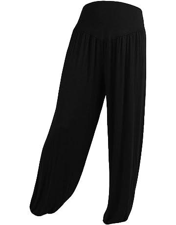 ba0c648d684 Xavigio Women Leggings Women s High Waist Yoga Pants Loose Elastic Waist  Cotton Soft Sports Dance Harem Pants