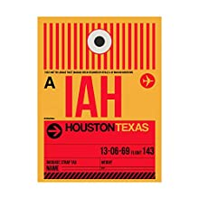 Trademark Fine Art IAH Houston Luggage Tag 1 by NAXART, 24x32, Multiple Colors