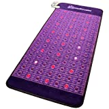Far Infrared Amethyst Mat + Natural Agate Gems - FIR Heat - Negative Ion - Red Light Photon Therapy - 10Hz PEMF Bio Magnetic Pulsation - FDA Registered Manufacturer - Purple (Professional 71''L x 32''W)