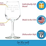 Got Me Tipsy It's Not Drinking Alone if The Cat is Home Funny Wine Glass - Birthday Gift Idea for Her, Gifts for Women - 13-Ounce, Glass
