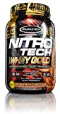 MuscleTech NitroTech Whey Gold, 100% Pure Whey Protein, Whey Isolate and Whey Peptides, Double Rich Chocolate, 2.24 Pounds