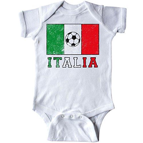 (inktastic - Italian Soccer Infant Creeper Newborn White 2e0d2 )