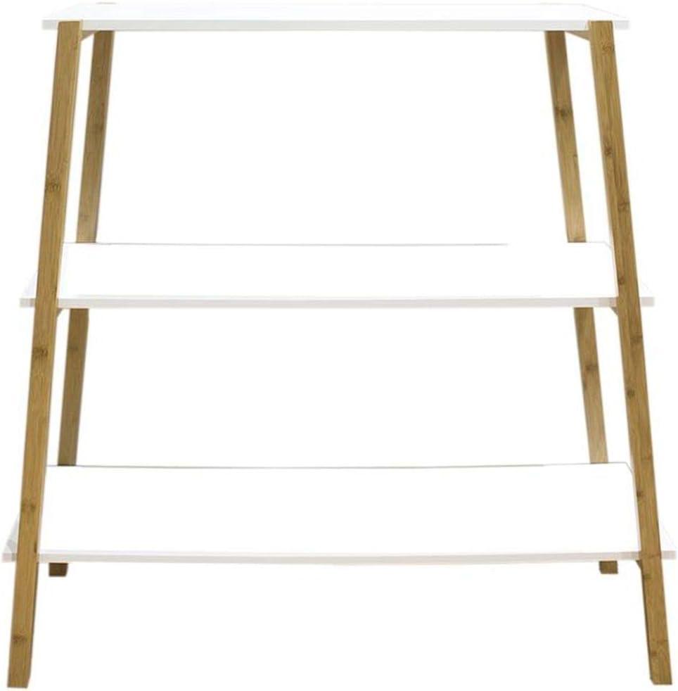 Eideo Home - Consola de 3 pisos, bambú/madera, color blanco, 100 cm: Amazon.es: Hogar
