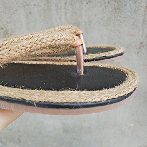Sandales 36 Porter Apricot Chaussures Facile Nouveau 37 Guang apricot Fly Xing De Fashion Plates Talons Plage À Bas Toe Aq4xUHF4wX