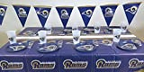 LOS Angeles Rams, 4th of July Barbecue 49 pieces Party set, Tablecloth,16 plate, 16 napkins, and large plastic 16 cups.