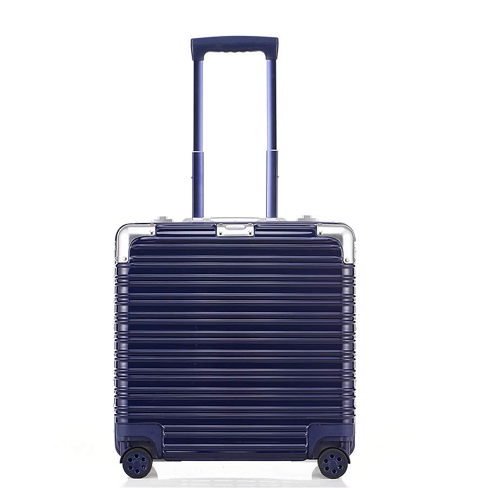 スーツケース ビジネス小さなアルミフレームプルロッドボックス、17インチ搭乗ボックス、ユニバーサルホイール、パスワード手荷物バッグ、旅行ギア トロリースーツケース B07VPBVKQC