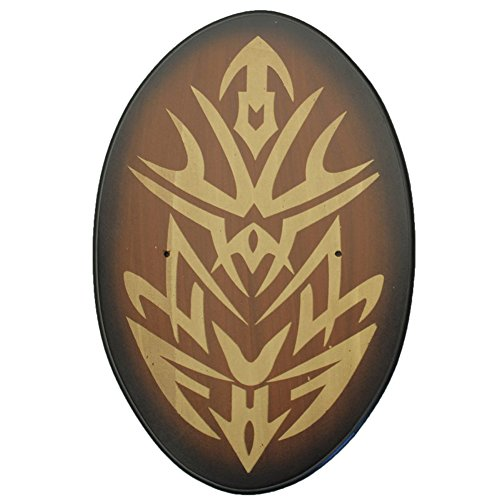 Medieval Opulence Golden Oval Universal Wood Wall Sword Plaque Display