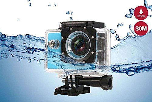 i-TecoSky 1080P Full HD Action Camera Sport Camera Sports Cam SJ4000 30M Waterproof Outdoor Mini Helmet Action Camera Diving Recorder Sports Action Camera Cam Camcorder DVR DV (blue) For Sale