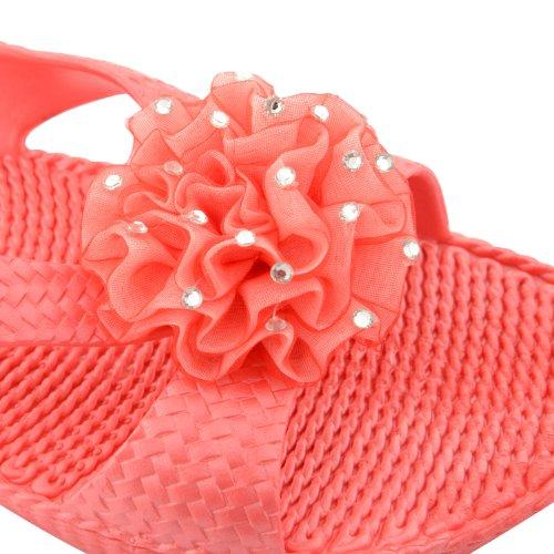 Footwear Sensation - Chanclas para mujer negro negro negro - Coral Open Toe