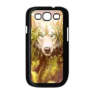 Diy Cool Wolf Phone Case for samsung galaxy s3 Black Shell Phone JFLIFE(TM) [Pattern-1]