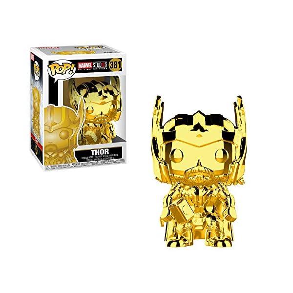51SBoTjRK5L Funko Marvel: Pop! Marvel Studios 10 Gold Chrome Collectors Set 3 - Groot, Hulk, Thor, Gamora Toy