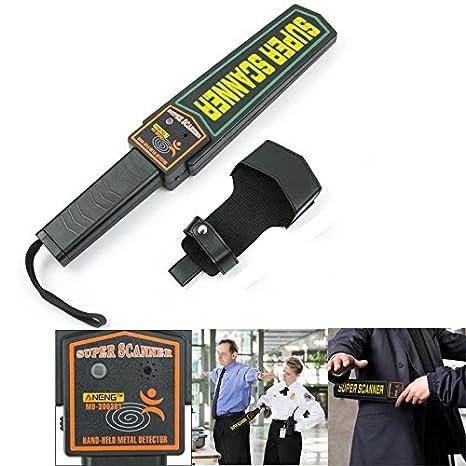 DyNamic ANENG MD3003B1 Detector de metales portátil de seguridad de alta sensibilidad Escáner de metal Alarma y vibración Super escáner Buscador de metales: ...